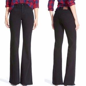 Madewell Black Flea Marker Flare Jeans